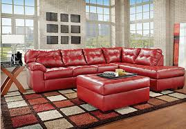 Creative Of Leather Sectional Living Room Set Living Rooms With - Red leather living room set