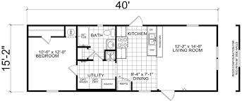 1 bedroom home floor plans bethany 16 x 40 607 sqft mobile home factory expo home centers