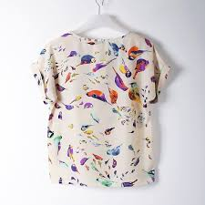 bird blouse chiffon blouse shirt fashion batwing sleeve