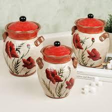 poppies kitchen canister set kitchen theme ideas pinterest