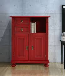 Schlafzimmer Kommode Fichte Hochkommode Fichte Massiv Rot Lackiert Sinada5 Designermöbel