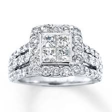 engagement bands rings images Kay diamond engagement ring 3 carats tw 14k white gold jpg