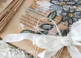 hello ribbon really reasonable ribbon flowers bows and lace journal page