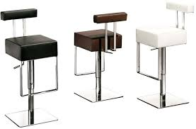 Black Leather Bar Stool Buy Sam Black Leather Bar Stool With Chrome Base Online Furntastic