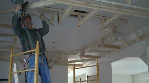 Ideas For Drop Ceilings In Basements How To Frame Drop Box Ceilings Home Renovation Tips Basement