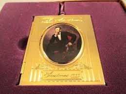 1999 white house historical ornament abraham lincoln 24k