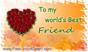 to my world s best friend happy best friends day greeting card
