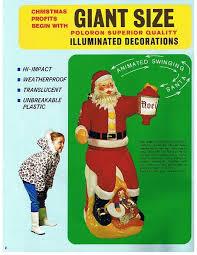 Vintage Blow Mold Christmas Decorations For Sale by 1969 Poloron Mechanical Santa Estate Sale Purchase Christmas Fanclub