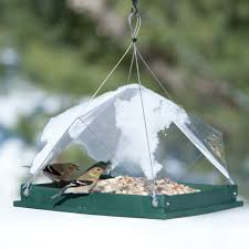 platform tent recycled platform feeders and covers wild bird feeders at drs