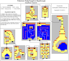 pokemon ruby version seafloor cavern map for game boy advance by