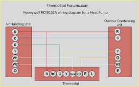 honeywell programmable thermostat wiring diagram honeywell rct8102a