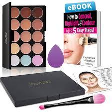 color concealer amazon com contour 15 color cream concealer makeup palette