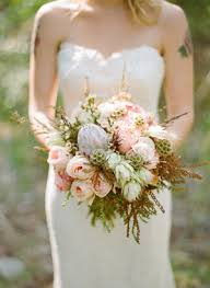 rustic wedding bouquets rustic pink wedding bouquet ideas once wed