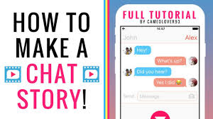 how to make a chat story text story via the texting story app