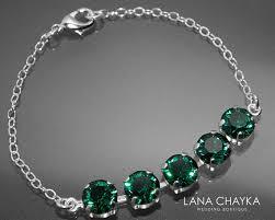 sterling silver crystal bracelet images Emerald crystal bracelet swarovski emerald sterling silver jpg