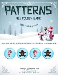 pattern practice games patterns file folder game by teach love and learn tpt