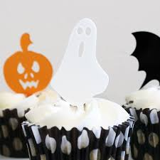 Halloween Mini Cakes by Halloween Mini Cake Toppers Set Of Six Rocket And Fox