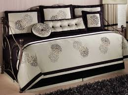 Daybed Covers Fitted Excellent Black White Comforters Sets Queen Tags Twin White
