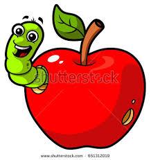 apple cartoon cartoon apple worm stock vector 2018 651312019 shutterstock