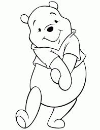 cute winnie the pooh bear posing coloring page h u0026 m coloring
