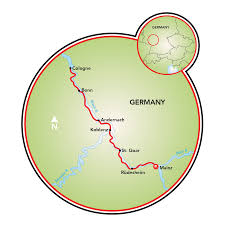 Cologne Germany Map by Mainz To Cologne Bike And Barge Tour Germany Tripsite