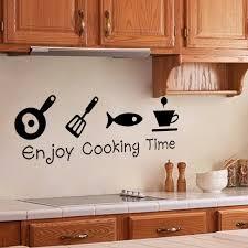 kitchen art design enjoy cooking time diy kitchen restaurant wall stickers decal home