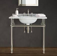 carrara marble console sink vintage carrara marble 30 inch console sink and metal stand