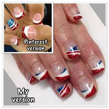 memorial day 4th of july gel nails gel nail designs pinterest