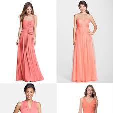 bridesmaid dresses coral coral bridesmaid dresses brides