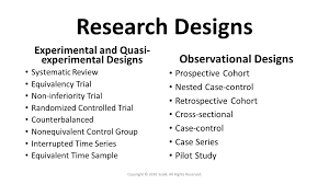good experimental design choose the correct research design for your research question