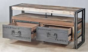 industrial console table with drawers tv entertainment console with 2 drawers and 1 shelf made from steel