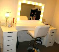 vanity table with lighted mirror and bench bedroom vanity set with mirror bedroom vanity and also makeup vanity