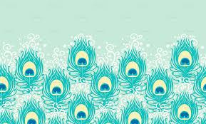 Wallpaper Border Designs Peacock Feathers Matching Border Wallpaper Oksancia Spoonflower
