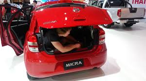 nissan micra trunk space nissan micra boot test youtube