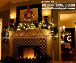 How To Decorate A Mantel For Christmas Best Christmas Decorating Ideas For Fireplace Mantel 2015