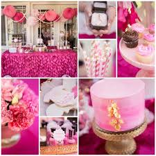 unique baby shower theme ideas amusing looked in brigth pink theme combined to soft pink
