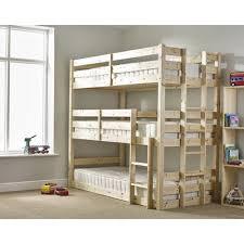 Just Kids Derby  Tier Triple Sleeper Bunk Bed  Reviews Wayfair - Mid sleeper bunk bed