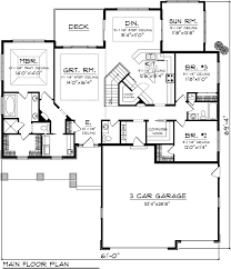 House Design Blueprints Ranch Level One Of Plan 73404 Small Houses Pinterest Ranch
