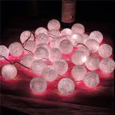 White Christmas Lights Wedding Decorations by White Christmas Lights Fairy Garland String Lights 35 Cotton Balls