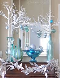 top blue and white blue and silver decorations