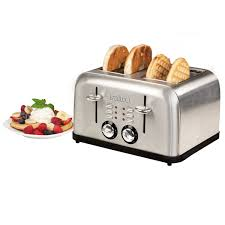 T Fal Digital 4 Slice Toaster Salton Electronic Stainless Steel 4 Slice Toaster