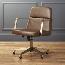 Leather Office Chair Draper Faux Leather Office Chair Reviews Cb2