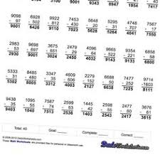 math worksheets one minute addition subtraction math worksheets
