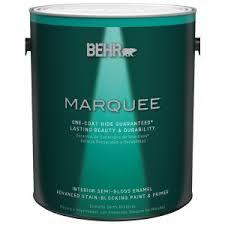 behr marquee 1 gal ultra pure white semi gloss enamel one coat
