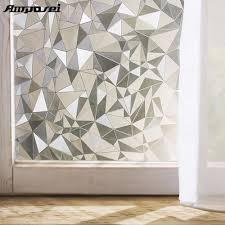glass door film privacy aliexpress com buy 45 200cm polygon shape opaque static glass