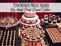 themed dessert table pink minnie mouse themed birthday party dessert table disney
