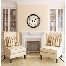 Home Interiors Stockton Decorating Harrisburg Oversized Wall Clock With Cozy Sofa And