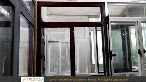 aluminum casement window with mosquito net youtube