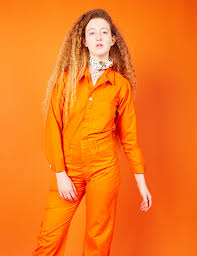 orange jumpsuit everyday jumpsuit sunset orange big bud press