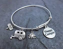 bracelet style images Happy camper charm bracelet expandable your choice jpg